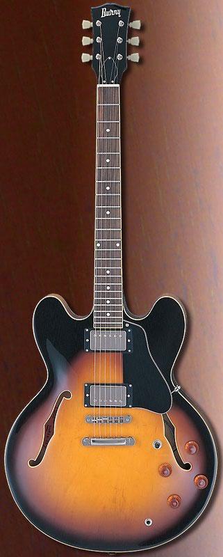 (お取り寄せ)BURNY RSA-65 BS バーニー エレキギター セミアコタイプ RSA65