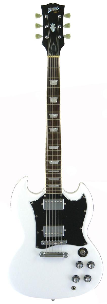 (お取り寄せ)Blits by Aria BSG-STD WH ブリッツ エレキギター SGスタンダード・タイプ