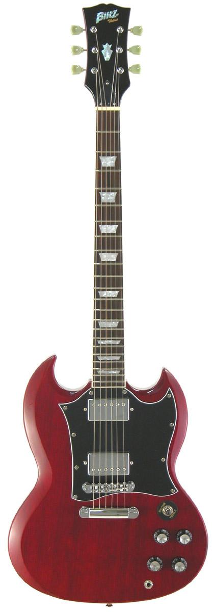 (お取り寄せ)Blits by Aria BSG-STD WR ブリッツ エレキギター SGスタンダード・タイプ
