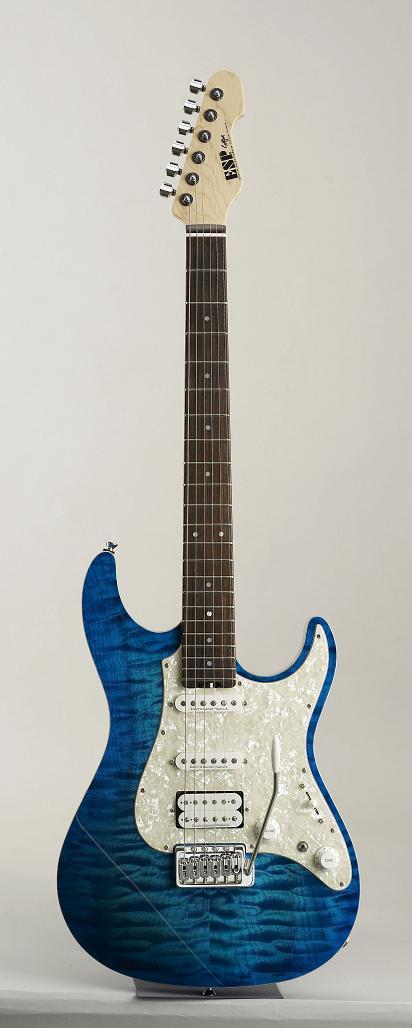ESP SNAPPER CTM Aqua Marine/R イーエスピー エレキギター ギグケース付属