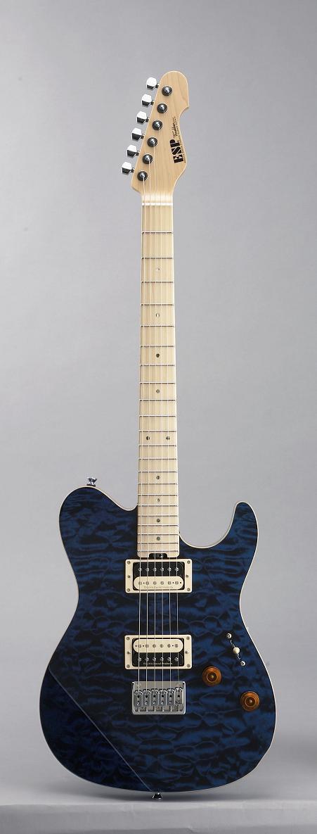 ESP THROBBER Deep Aqua/M イーエスピー エレキギター ギグケース付属