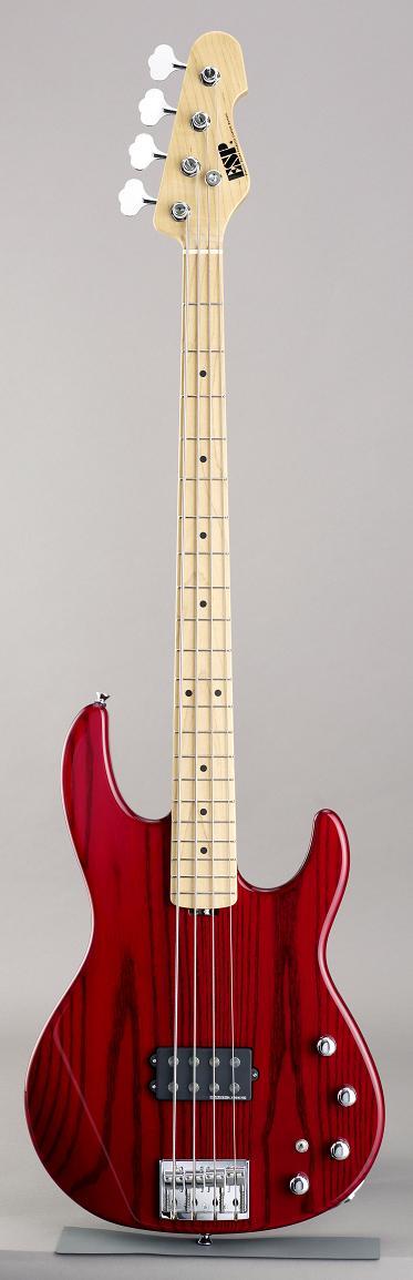 ESP AP See Thru Red/Maple イーエスピー エレキベース メイプル指板 ギグケース付属