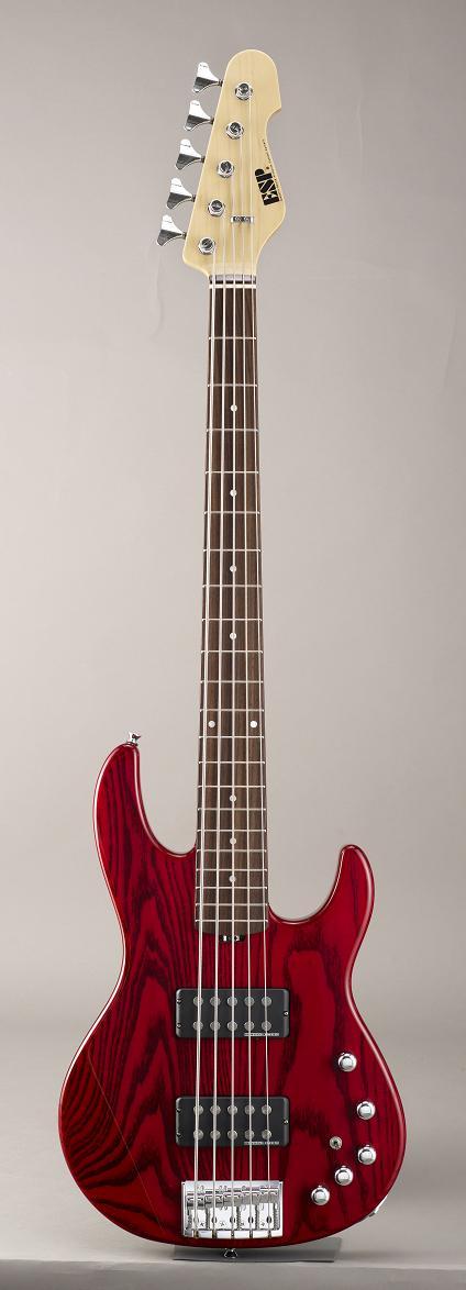 ESP AP-SL5 See Thru Red/Rosewood イーエスピー エレキベース ローズウッド指板 ギグケース付属