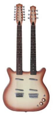 (お取り寄せ)Danelectro ダンエレクトロ エレクトリックギター DOUBLE NECK 6-12 BKB ブラックバースト