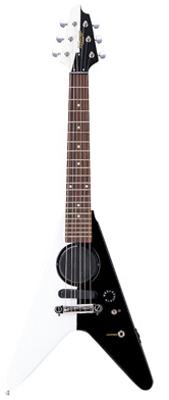 (お取り寄せ)K-GARAGE ミニFVスピーカー付き ミニギター SFV-180-B/W(SFV180BW)ブラック/ホワイト *ソフトケース付き