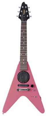 (お取り寄せ)K-GARAGE ミニFVスピーカー付き ミニギター SFV-180-PIK(SFV180PIK)ピンク *ソフトケース付き