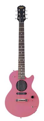 (お取り寄せ)K-GARAGE ミニLPスピーカー付き ミニギター SLP-180-PIK(SFV180PIK)ピンク *ソフトケース付き