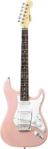 (お取り寄せ)K-Garage エレキギター KST-150-3TS(KST1503TS)ピンク *ソフトケース付き