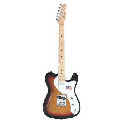 (お取り寄せ)SX Guitars エレキギター KTL-300 3TS(KTL3003TS)3-トーンサンバースト *ソフトケース付き