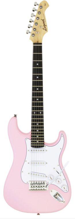 Legend LST-MINI KWPK(Kawaii Pink)ミニサイズのエレキギター ミニギター
