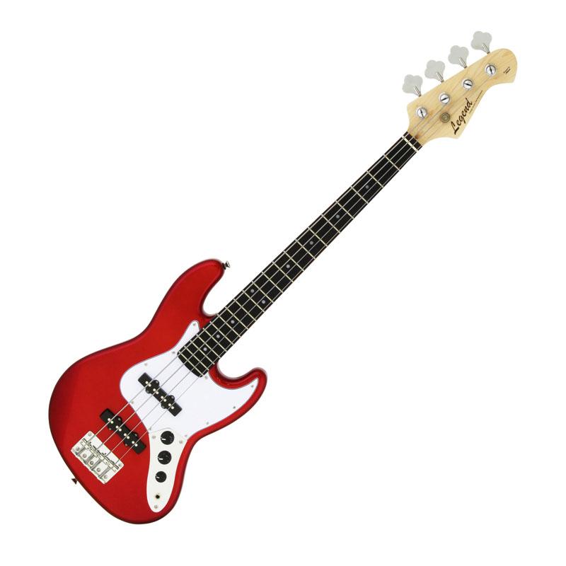 Legend LJB-MINI CA(Candy Apple Red)ミニサイズのエレキベース/ミニベース