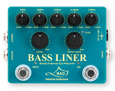 HAO BASS LINER フィル・ジョーンズと共同開発ベース用プリアンプベダル ハオ ベースライナー BL-1