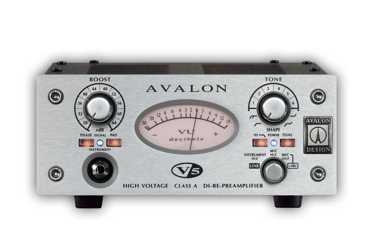 (お取り寄せ)AVALON V5 SILVER Class A DI-Re-PreAmplifier アヴァロン DI+マイクプリアンプ(正規品)