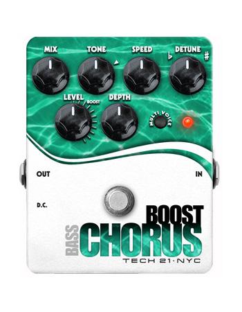 (お取り寄せ)TECH21 SansAmp Boost Chorus Bass アナログ・コーラスエフェクター(ベース用)ブースト機能搭載