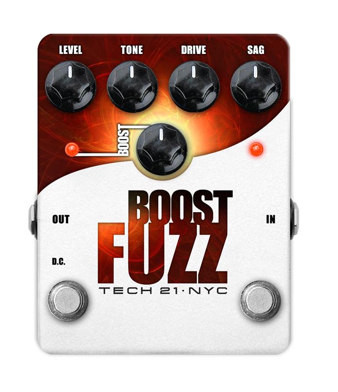 (お取り寄せ)TECH21 SansAmp Boost Fuzz ブースト機能搭載 アナログ・ファズ・エフェクター(ギター用)