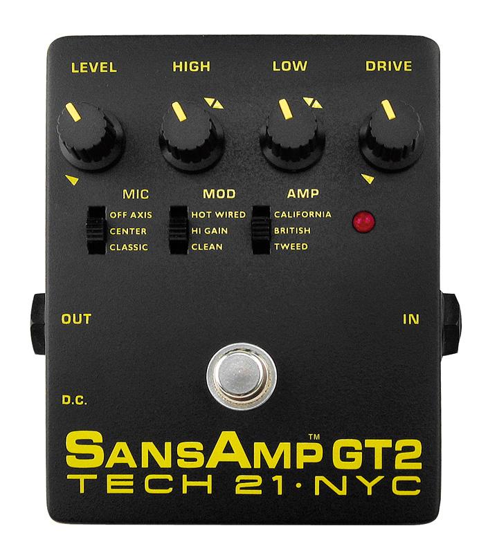 (お取り寄せ)TECH21 SansAmp GT2 アンプシミュレーター オーバードライブ/ディストーション