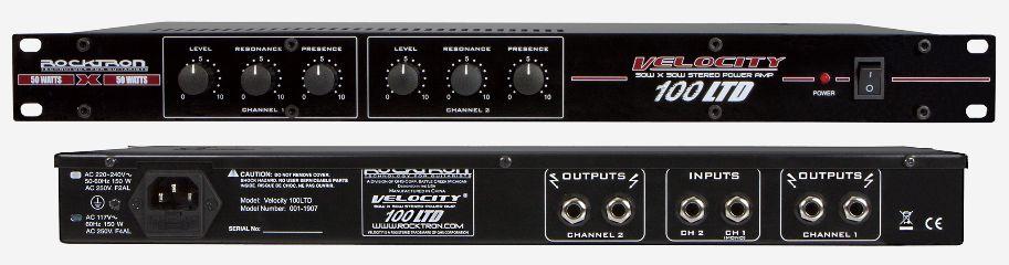 (お取り寄せ)ROCKTRON VELOCITY 100 LTD 55W×2、ギター用パワーアンプ RT2301