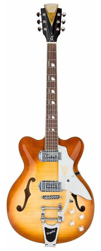 KAY JAZZ II Ice Tea Sunburst クラプトンが最初のバンドで弾いていたギターが復刻