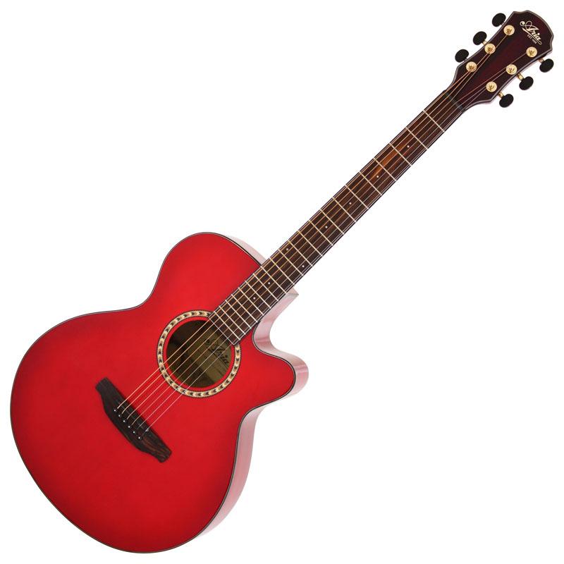 (お取り寄せ)ARIA TG-1 SR(シースルーレッド) アリア アコースティックギター アコギ