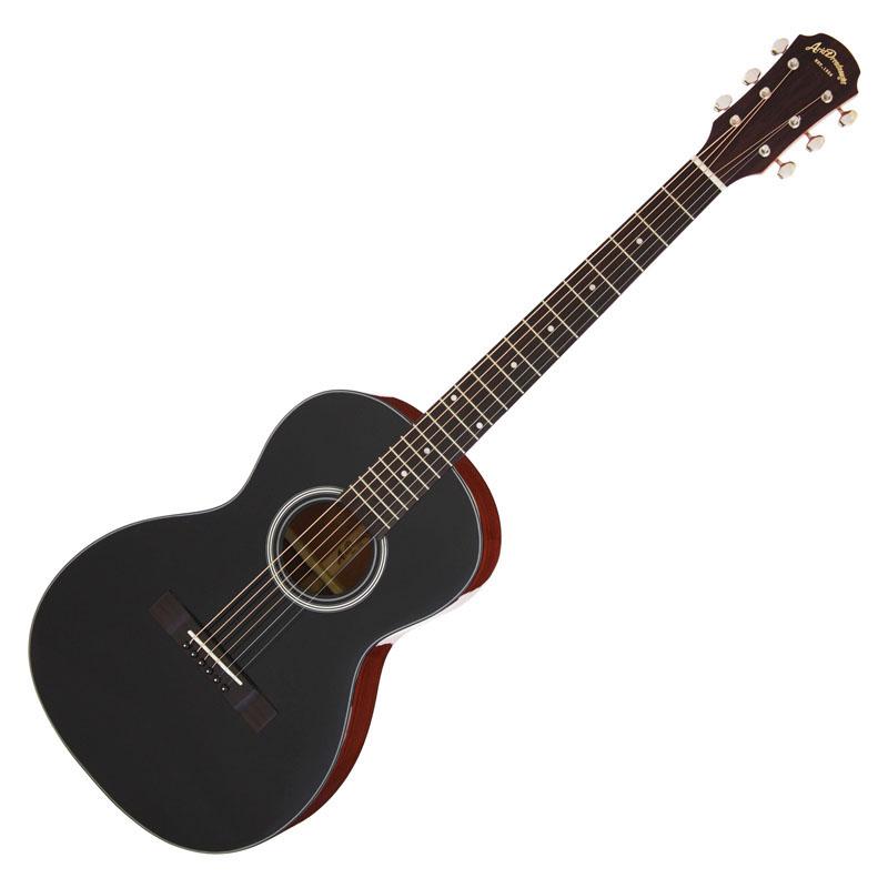 ARIA ADL-231 BK/Black アリア アコースティックギター 小ぶりなボディのパーラーギター *ギグケース付き