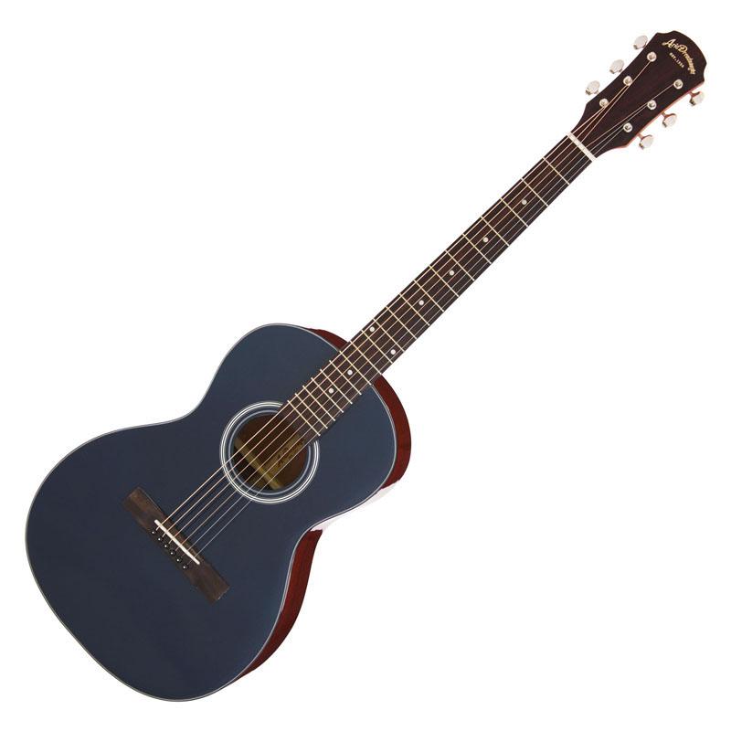 ARIA ADL-231 IDB/Indigo Blue アリア アコースティックギター 小ぶりなボディのパーラーギター *ギグケース付き
