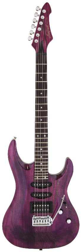 (お取り寄せ)(限定モデル)(特典あり)(日本製) Ariapro2 MAC-LUX PUGL (Purple/Gold Stained)) アリアプロ2 エレキギター *ギグケース付属