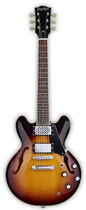 (お取り寄せ)GrassRoots Mini Guitar Series G-SA-MINI(Tabacco Sunburst)グラスルーツ アンプ内蔵ミニエレキギター *ソフトケース付き