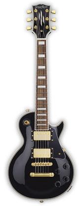 (お取り寄せ)GrassRoots Mini Guitar Series G-LPC-MINI/2H(Black)グラスルーツ ミニエレキギター *ソフトケース付き