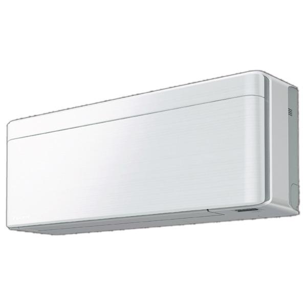 (商品お届けのみ)ダイキン 8畳向け 冷暖房インバーターエアコン risora ファブリックホワイト S25VTSXS-F [S25VTSXSFS] ※受注生産品につき、別途日数が必要です。