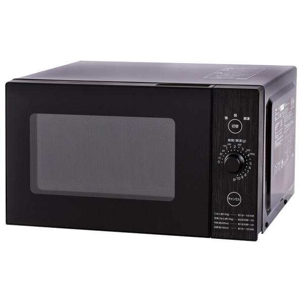 操作部デザイン 限定価格セール YAMAZEN YRL-F018E6-B 新作続 電子レンジ オリジナル ブラック YRLF018E6B