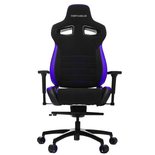 VertaGear VG-PL4500_BP ゲーミングチェア Racing Series P-Line PL4500 Coffee Fiber with Silver Gaming Chair Black&Purple [VGPL4500BP]