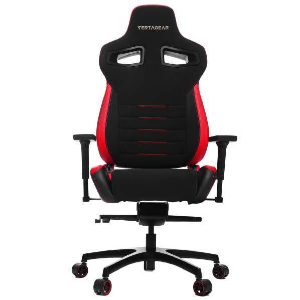 VertaGear VG-PL4500_RD ゲーミングチェア Racing Series P-Line PL4500 Coffee Fiber with Silver Gaming Chair Black&Red [VGPL4500RD]