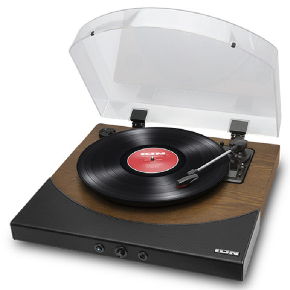 ION Bluetooth対応レコードプレーヤー Premier LP ブラウン IATTS037