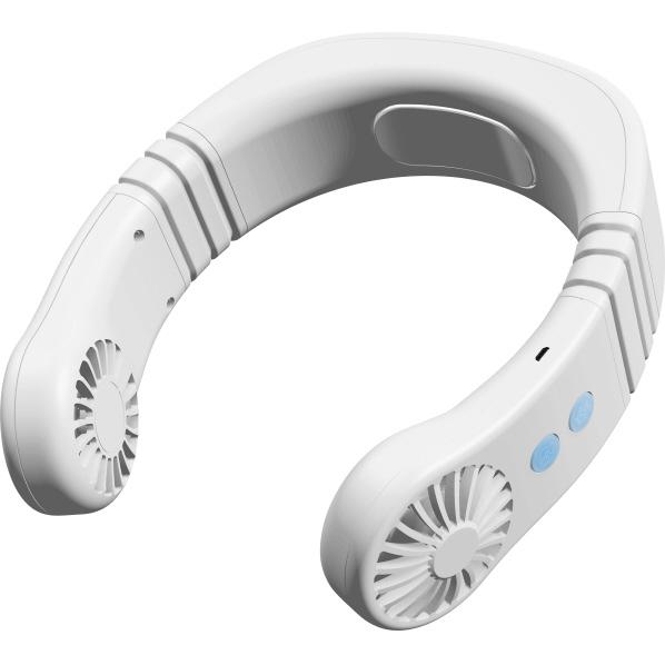 両手が使える持ち運べるネッククーラー トレードワン USBハイブリッドネッククーラー スリム ED90065WH 新品 セール商品 ホワイト