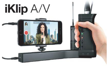 (お取り寄せ)(正規品)IK Multimedia iKlip A/V iPhone スマートフォン対応グリップ IK マルチメディア