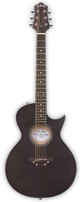 (お取り寄せ)Grass Roots G-AC-45 STBKS ( See Thru Black Satin ) グラスルーツ アコースティックギター 610mmのショートスケール