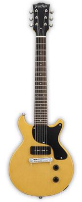(お取り寄せ)GrassRoots Mini Guitar Series G-JR-MINI(TV Yellow)*アンプ内蔵 グラスルーツ ミニエレキギター *ソフトケース付き