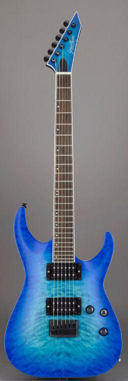 GrassRoots G-HR-55FX See Thru Blue SB Satinグラスルーツ エレキギター *ソフトケース付き