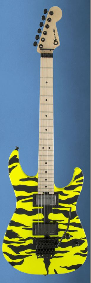 (お取り寄せ)Charvel Satchel Signature Pro-Mod DK YelloW Bengal シャーベル・プロ-モッド・シリーズ スティール・パンサーのギタリスト、サッチェルのシグネチュア・モデル