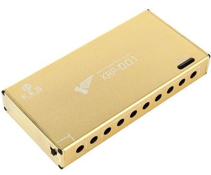 充電式パワーサプライ K.E.S KRP-001 リチウムイオンバッテリー内蔵パワーサプライクリーンで安定した電源をエフェクターへ供給