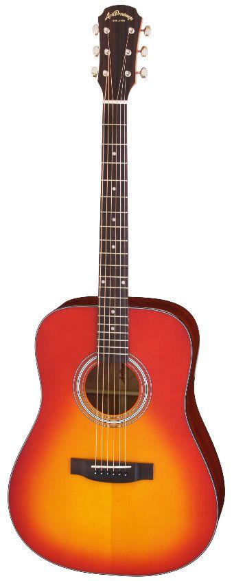 (お取り寄せ)(特典満載)Aria Dreadnought AD-211 CS(Cherry Sunburst) アリアドレッドノート アコースティックギター