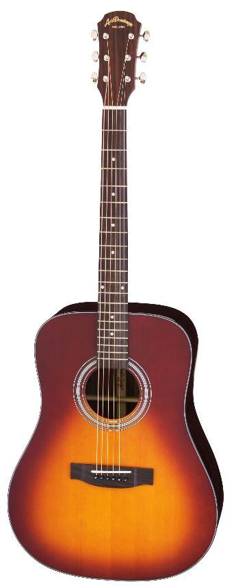 (お取り寄せ)(特典満載)Aria Dreadnought AD-215 TS(Tobacco Sunburst) アリアドレッドノート アコースティックギター