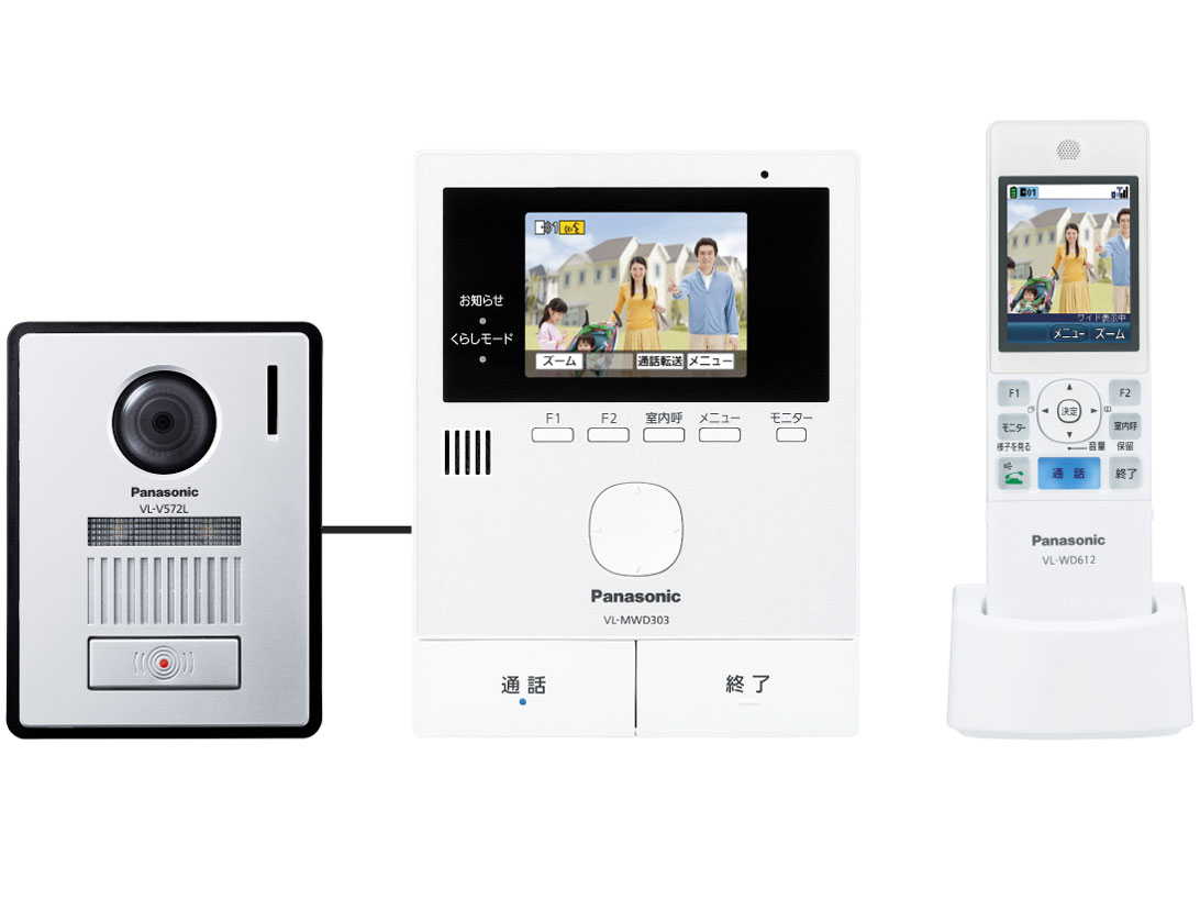 (お取り寄せ)パナソニック ワイヤレスモニター付きテレビドアホンPanasonic どこでもドアホン VL-SWD303KL