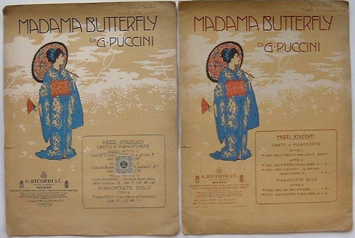 【中古】楽譜 MADAMA BUTTERFLY Solo di Pinkerton/Solo di Butterfly (マダム バタフライ)