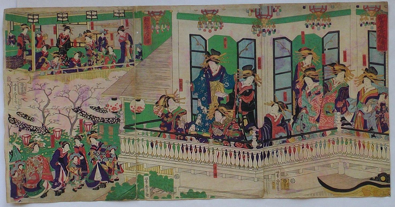 【中古】新吉原金瓶楼図・稲本楼二階之図