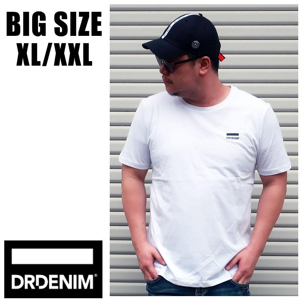 送料無料 メンズ 大きいサイズ ブランド ドクターデニム Tシャツ XL XXL 2L 3L 半袖 プリント ロゴ ワンポイント DRDENIM インポート 海外ブランド 国内正規品 【161131】 White Small Logo