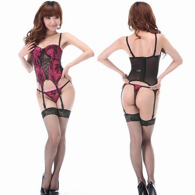 f3177d1c7 There is reason pink bustier   T back set sexy lingerie  Christmas   sexy  ...