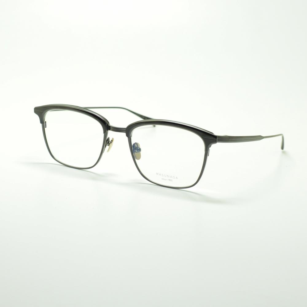 MASUNAGA since 1905 BASIE col-29 BLACKメガネ 眼鏡 めがね メンズ レディース おしゃれ ブランド 人気 おすすめ フレーム 流行り 度付き レンズ