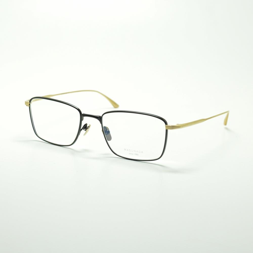 MASUNAGA since 1905 LEX col-39 BLACK/GOLDメガネ 眼鏡 めがね メンズ レディース おしゃれ ブランド 人気 おすすめ フレーム 流行り 度付き レンズ