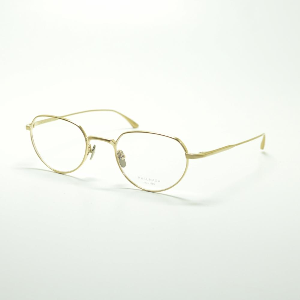 MASUNAGA since 1905 MET col-11 GOLDメガネ 眼鏡 めがね メンズ レディース おしゃれ ブランド 人気 おすすめ フレーム 流行り 度付き レンズ